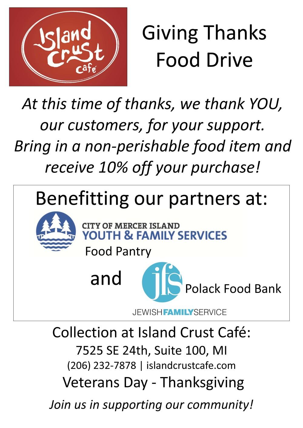 Island Crust Food Drive
